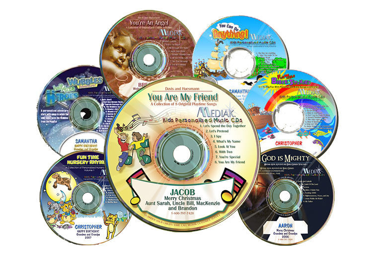 Childrens Personalized CDs with Kids Music CDs